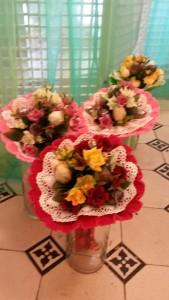 Blumenstrauß mit Schokoladeknospen