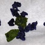 Veilchen und Minzblätter